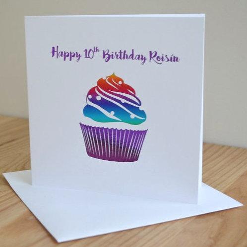 Large Customised Birthday Card