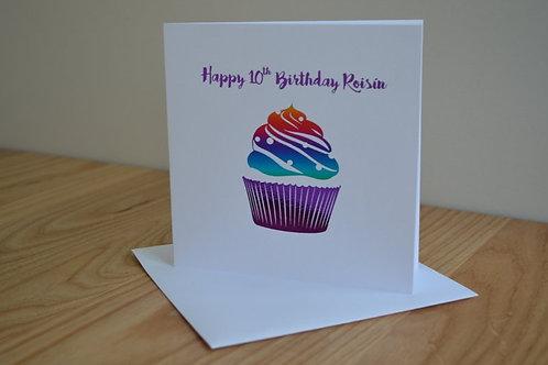Customised Birthday - Cupcake