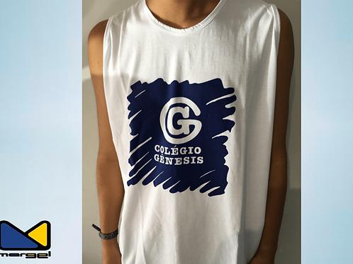 Camiseta regata colégio Genesis