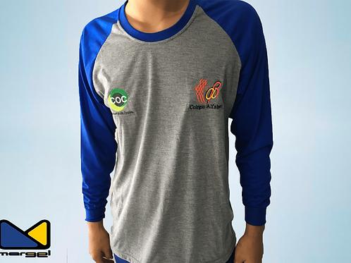 Camiseta raglan colégio alfabeto