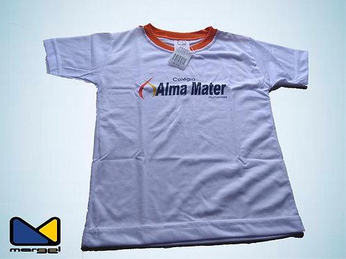 Camiseta gola careca colégio Alma Mater