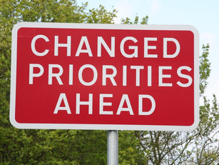 A Change in Priorities