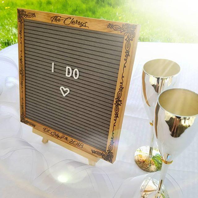 Customized Wedding Felt Letter Board