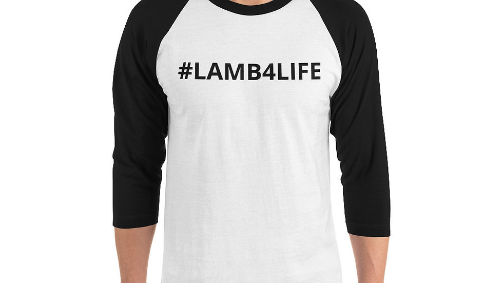 3/4 sleeve raglan shirt KenYUCK two-tone t-shirt #LAMB4LIFE carey on dawling