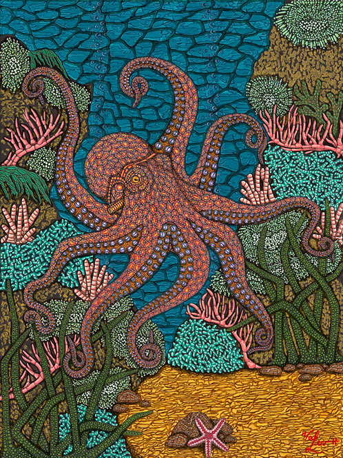 """Valerie Levkulich Signed Artist Proof  - """"The Octopus's Garden"""""""