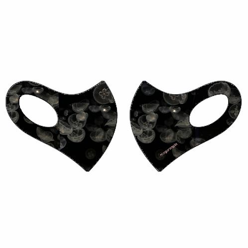 ミズクラゲプリント日本製クール立体マスク