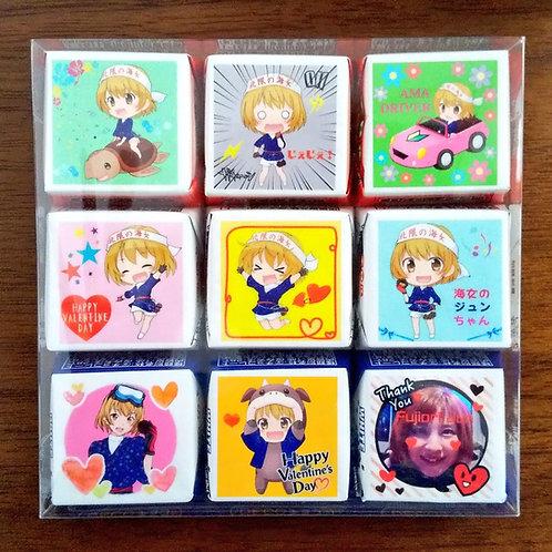 【限定15セット】海女のジュンちゃん&リアルジュンちゃんバレンタインチョコセット