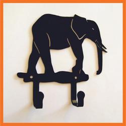 Крючок для одежды Слон черный