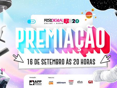 Quest presente no shortlist do FestDigital 2020, premiação da APP Ribeirão Preto.