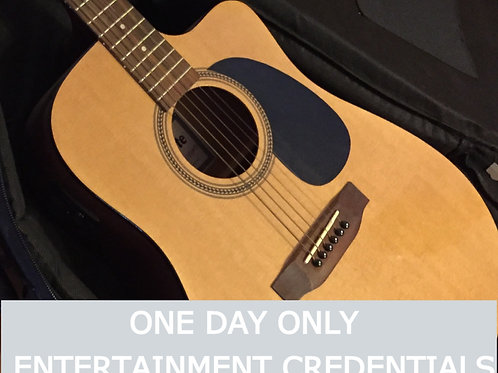 ONE DAY ONLY Credentials