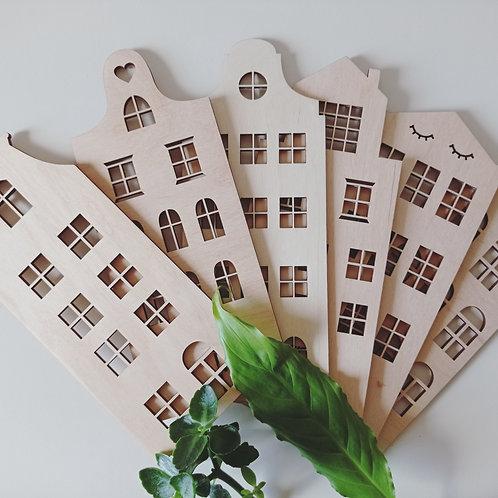 mini mini Kamieniczki dekory naturalna ozdoba