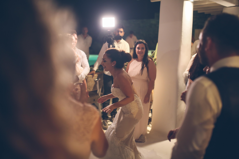 bride partying in mykonos