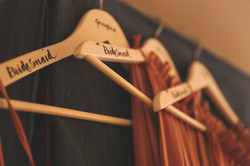Bridesmaids dress hangers