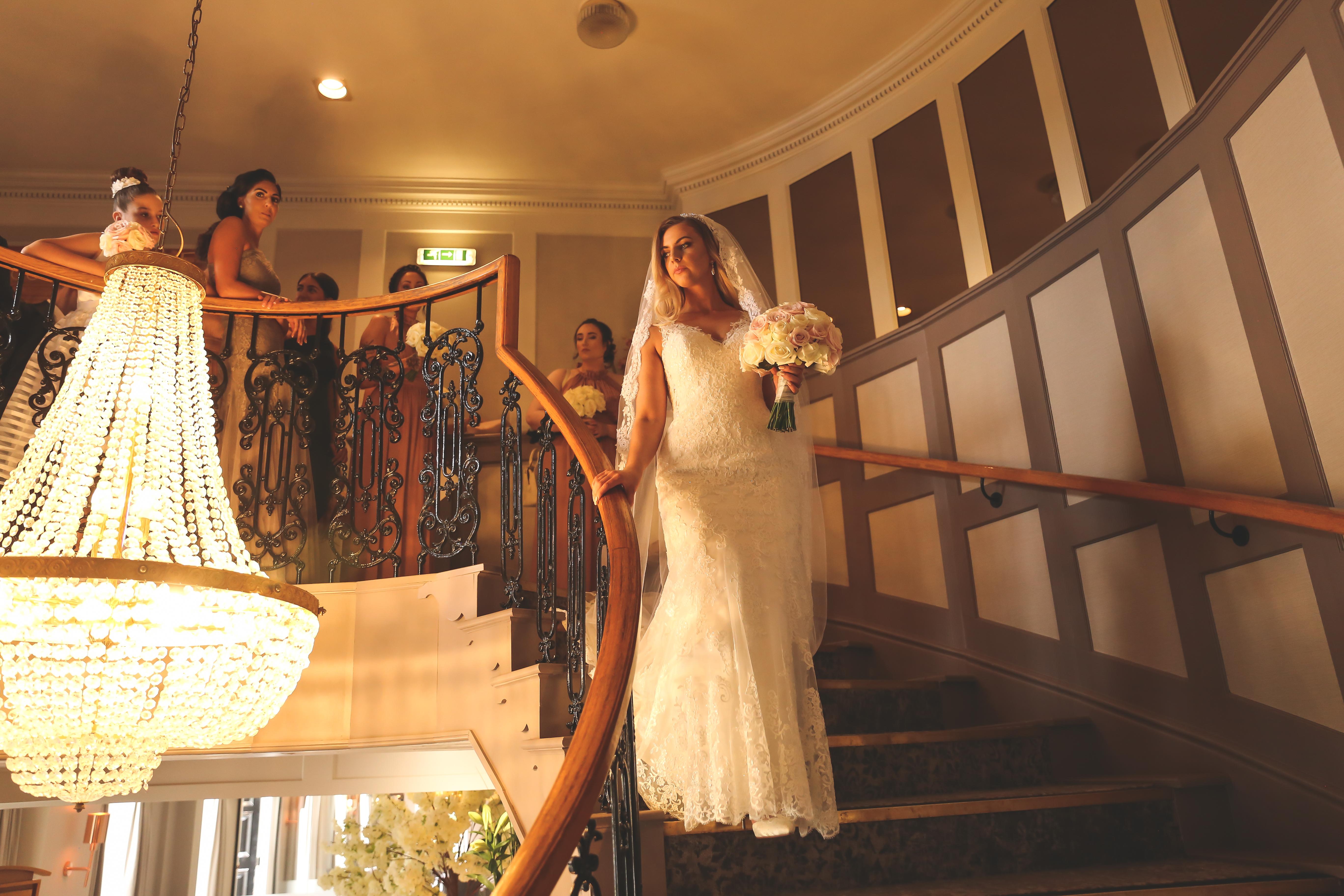 bride making her grand entrance