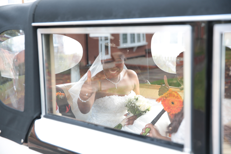 Bride getting to the venue