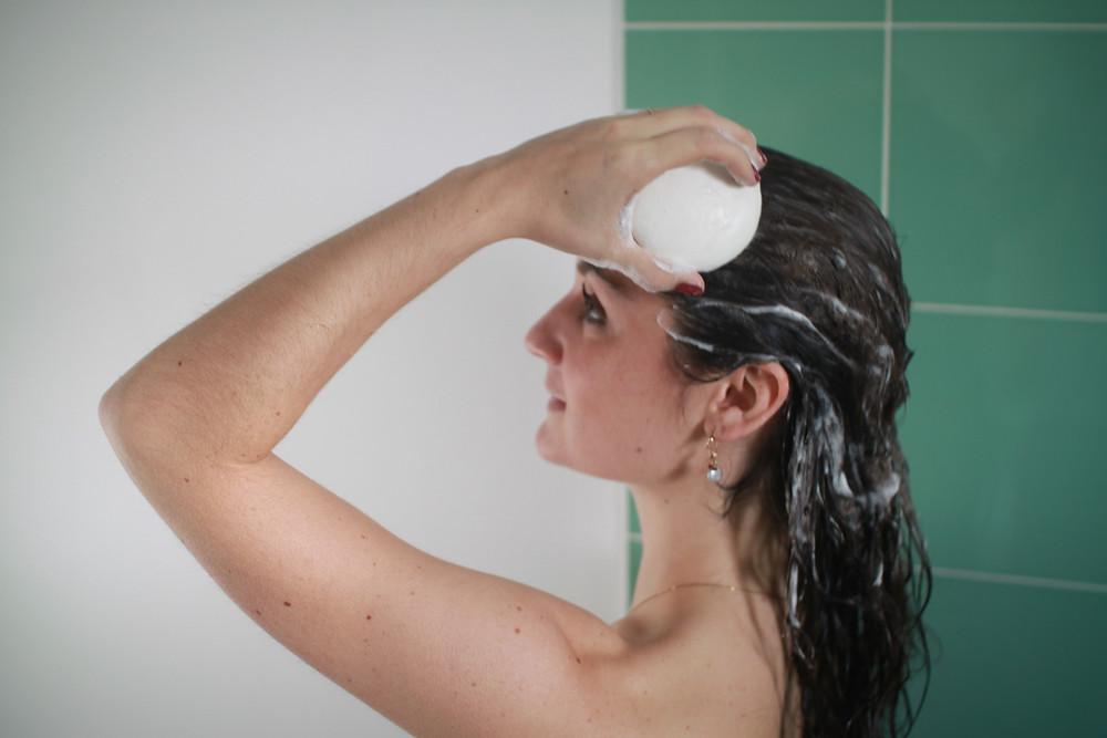 savon et calcaire les cheveux secs terne et reche