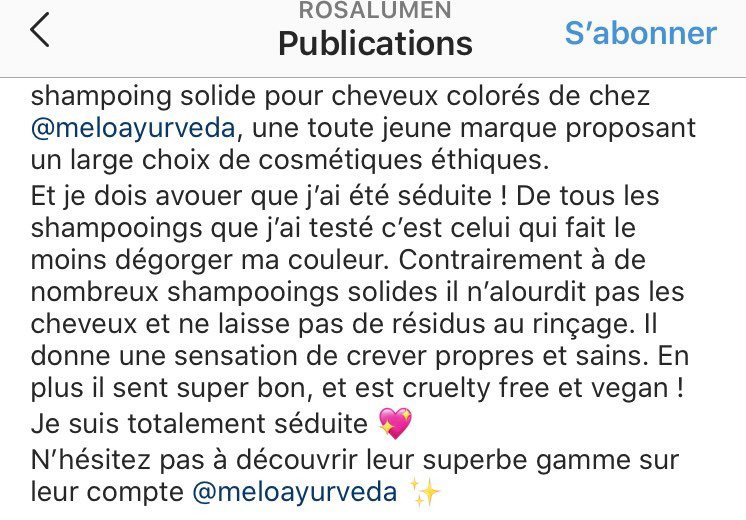 avis shampoing solide cheveux colores
