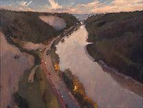 'Avon Gorge - dusk'  oil 23_x31_.jpg