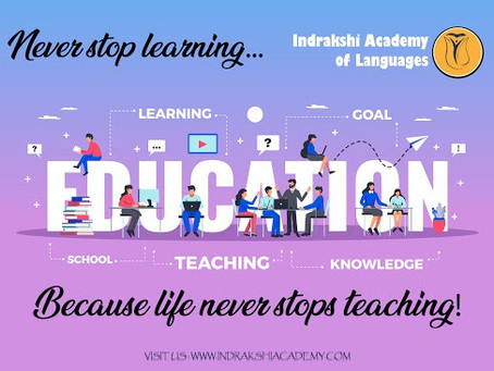 """""""Develop a Passion for learning.If you do, you will never cease to grow"""""""