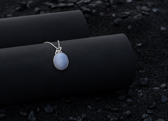 Sterling Silver and Lace Agate Pendant