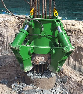 4JAW pile cropper