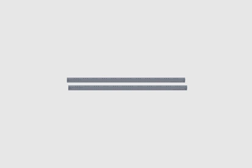 "AL-2572/1 — Pair of GF-Slider precision rails, 160 cm / 5'3"" (2 pcs.)"