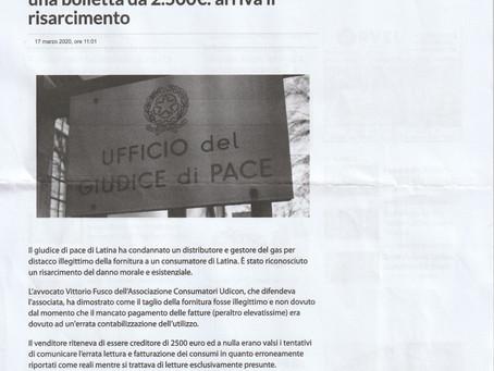 Giudice di pace di latina - risarcito cliente