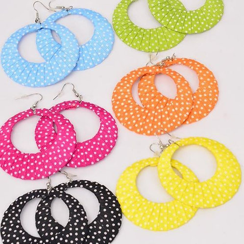 Circle Polka Dots Earrings