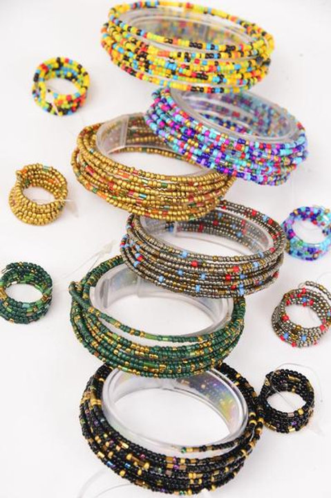 Bangle & Ring Sets Fall Wrap Around Bunch Indian Beads