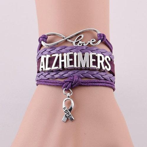 Infinity Love ALZHEIMERS Awareness Charm Bracelet