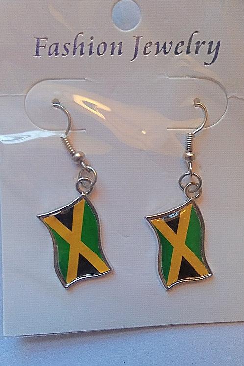 Jamaica Flag Earrings