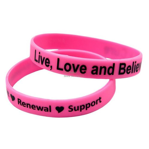 Live Love & Believe in a Cure Wristband
