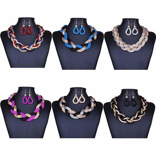 Metal Braid Twist Chain Set