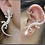 Thumbnail: Opal Lizard Shape Earring