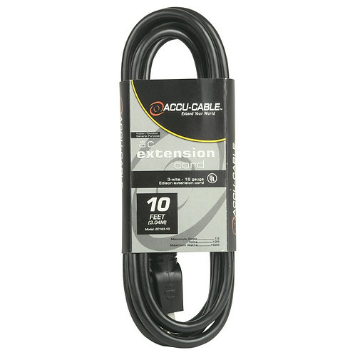 American DJ EC163-10 pwr cable EC163-10 EDISON CABLE