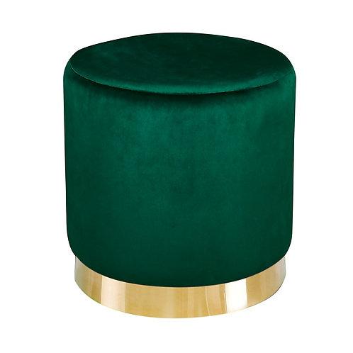 Lara Pouffe - Forest Green Velvet
