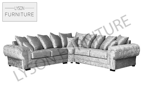 VICTORIA VELVET Corner Sofa - Scatter Cushion - Fabric