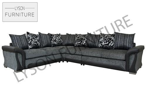 SHIRLEY EXTRA EXTRA LARGE Corner Sofa - Scatter Cushion - Fabric