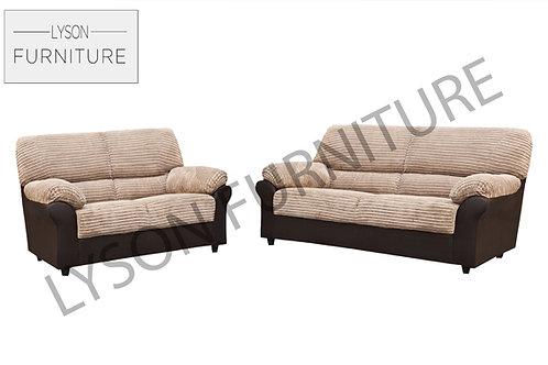 CRYSTAL 3+2 Sofa Set - Full Back - Fabric