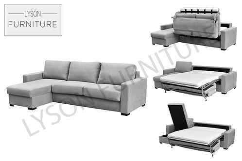 PEGGY Corner Sofa Bed - Full Back - Fabric
