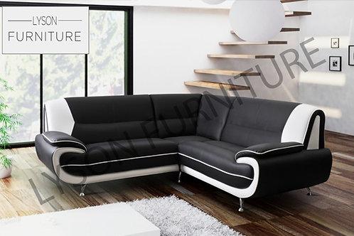 PENELOPE Corner Sofa - Full Back - Faux Leather