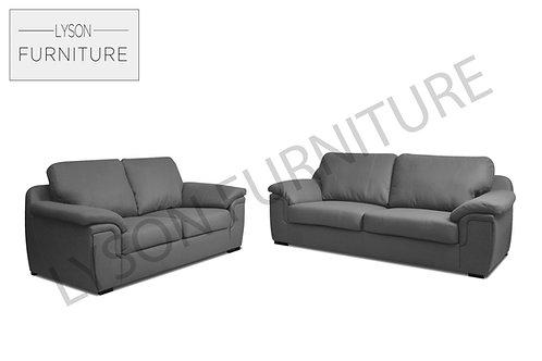 AMELIA 3+2 Sofa Set - Full Back - Faux Leather