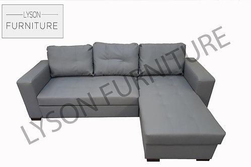 GARY Corner Sofa Bed - Full Back - Faux Leather