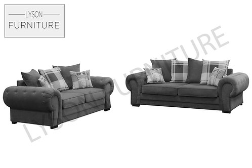VICTORIA 3+2 Sofa Set - Scatter Cushion - Fabric