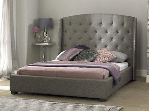 Signature Light Grey Fabric Bed