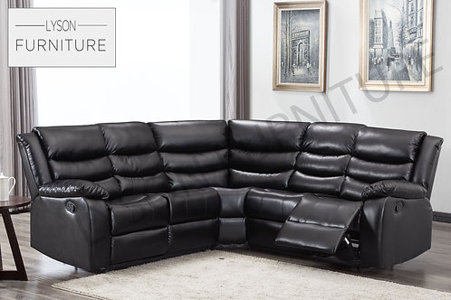 WINSTON Recliner Corner Sofa - Faux Leather