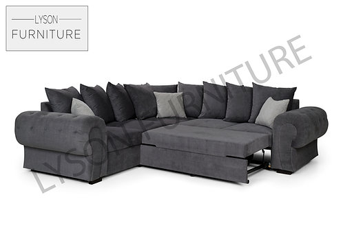 NICOLA Corner Sofa Bed - Scatter Cushion - Fabric