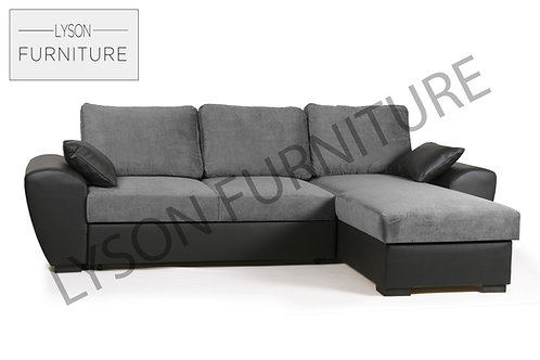 GARY Corner Sofa Bed - Full Back - Fabric