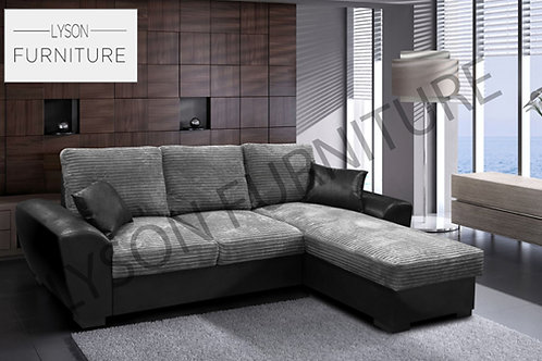 GARY Corner Sofa Bed - Full Back - Fabric