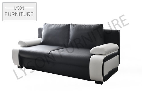 VICTOR Sofa Bed - Full Back - Faux Leather